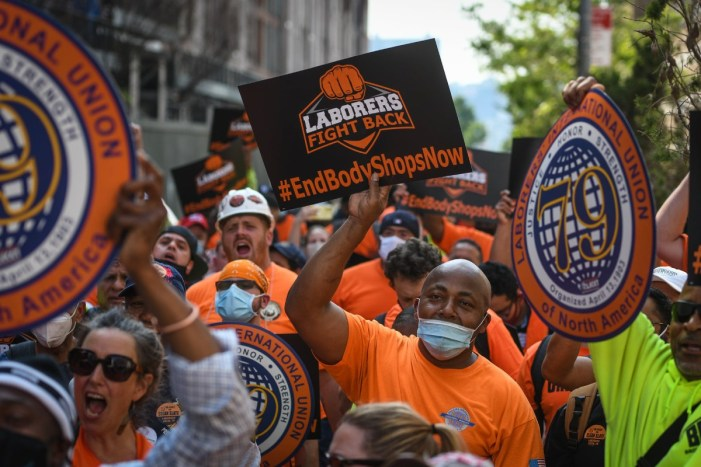 Laborers Rally to End Body Shop Exploitation