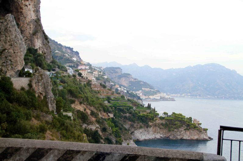 Views of the Amalfi Coast drive from the bus!