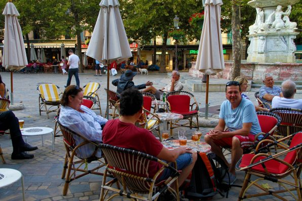 Watching French life go by in Carcassonne