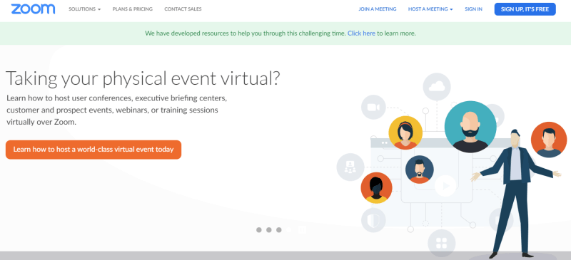 Zoom is one of the top five and most popular video conferencing software to date.