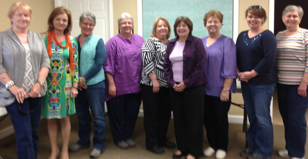 UT Extension Agent Donna Calhoun, second from left, poses with Pathweighs to Health participants from Polk County.