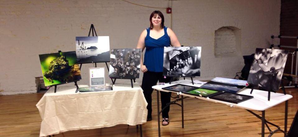 Synthia Clark Posing During Art Show