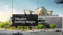 Visualisierung von Gebäudeentwürfen