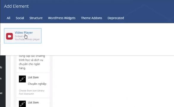 Hướng dẫn thay thế Tab section bằng Video sử dụng Visual Editor
