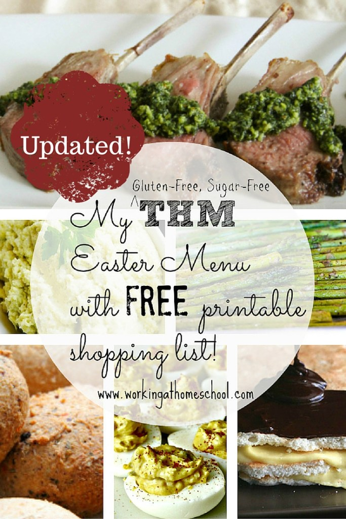 Low-Carb Easter Dinner with printable shopping list - THM S meal!