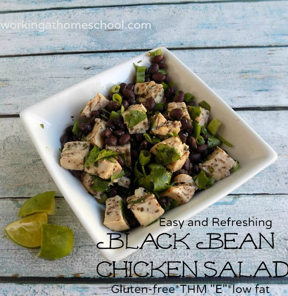 Gluten-free low fat Black Bean Chicken Salad