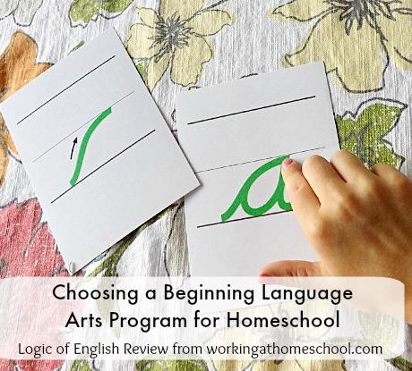Choosing a Language Arts Homeschool Program