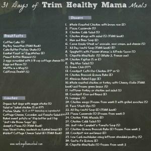 31 Days of GF THM Meals