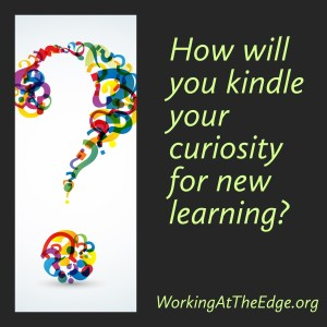 How will you kindle your curiosity for new learning?
