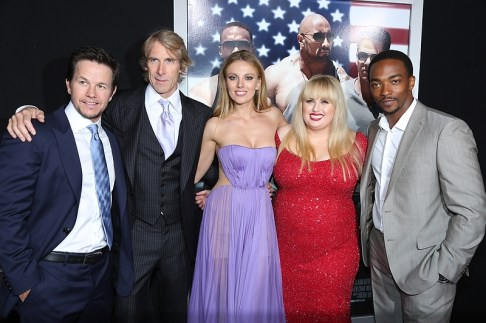 Mark Wahlberg, Michael Bay, Bar Paly, Rebel Wilson and Anthony Mackie