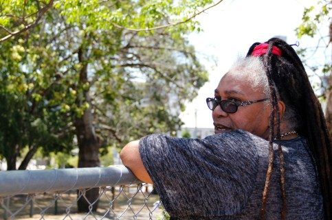Aunty Patrica Leavey looks out over Musgrave Park.