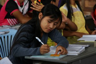 Students study hard, hoping that their education at KNCC will help them gain admission to universities around the world.