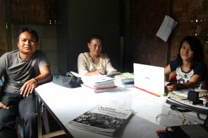 In the quiet lunchtime hour, KNCC's teachers plan their next day's lessons.