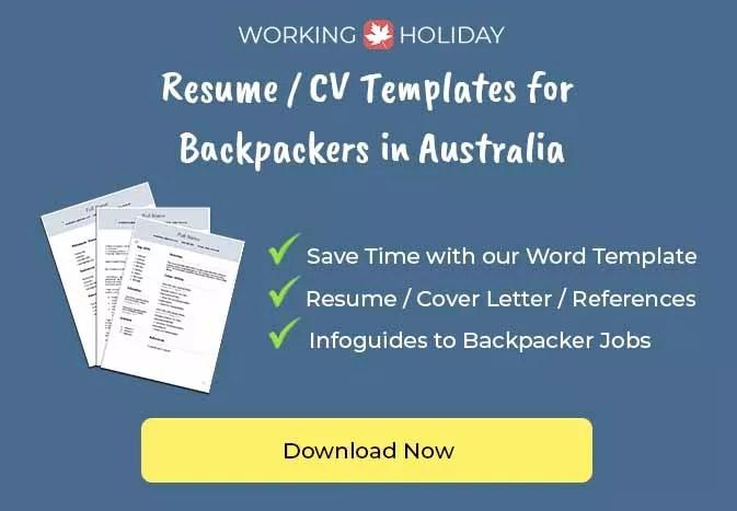 Australia Resume Template For Backpacker 2021 Work And Travel