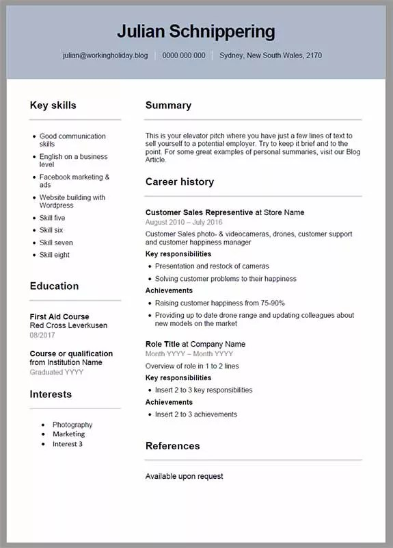 Important Things To Know About The Resume In Australia 2021