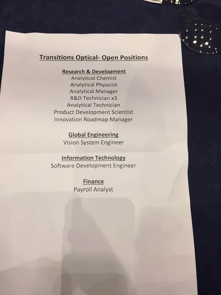 Transitions Optical Tuam jobs