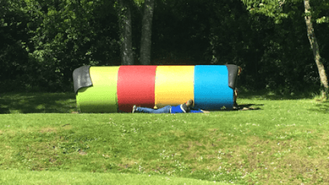 Hide and seek at Renville Park, Oranmore
