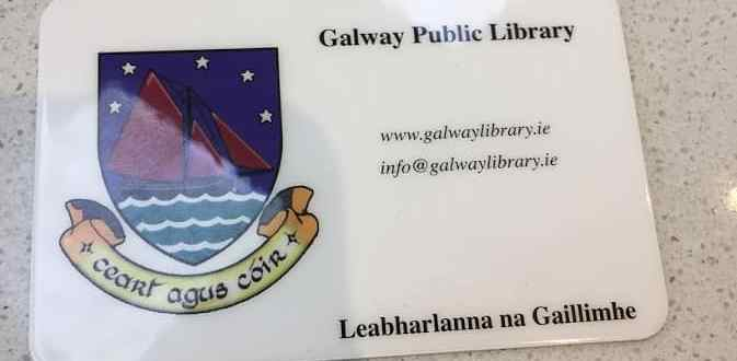 Image of a an Irish Public Library card