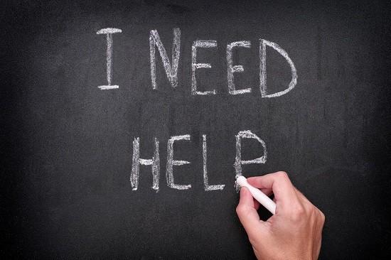 image that says I need help