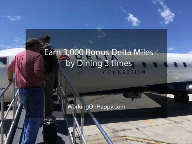 3,000 Bonus Delta SkyMiles with SkyMiles Dining