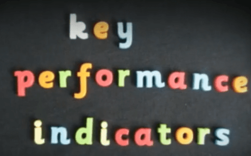 Image set out with childrens letters key performance indicators
