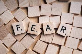 the words fear in scrabble letters