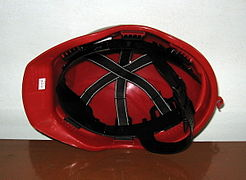 Adjustments inside a construction helmet