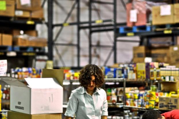 Woman warehouse worker