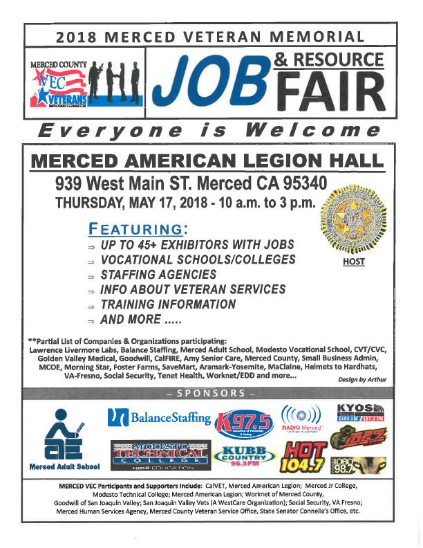 2018 Merced Veteran Memorial Job & Resource Fair - Worknet
