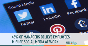 46% of Managers Believe Employees Misuse Social Media & Work Technology
