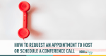 Manner Monday: Requesting an Appointment for Conference Call