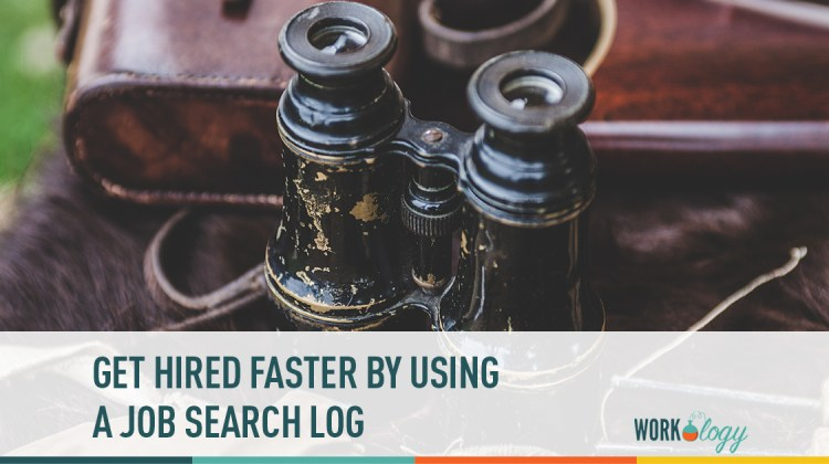 get hired faster with a job search log workology
