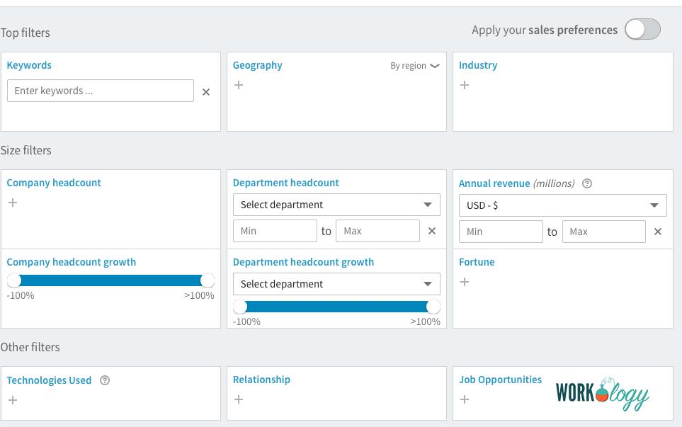 LinkedIn Recruiter vs. Sales Navigator Image 2
