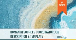 human resources HR coordinator job description template