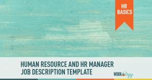 human resource manager job description template HR human resources