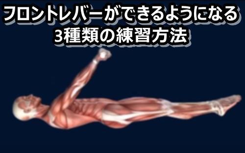 フロントレバーのやり方と3種類の練習法【広背筋の自重トレ】
