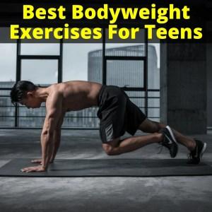 Teen doing bodyweight exercise