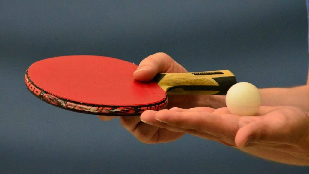 Preparing for ping pong serve