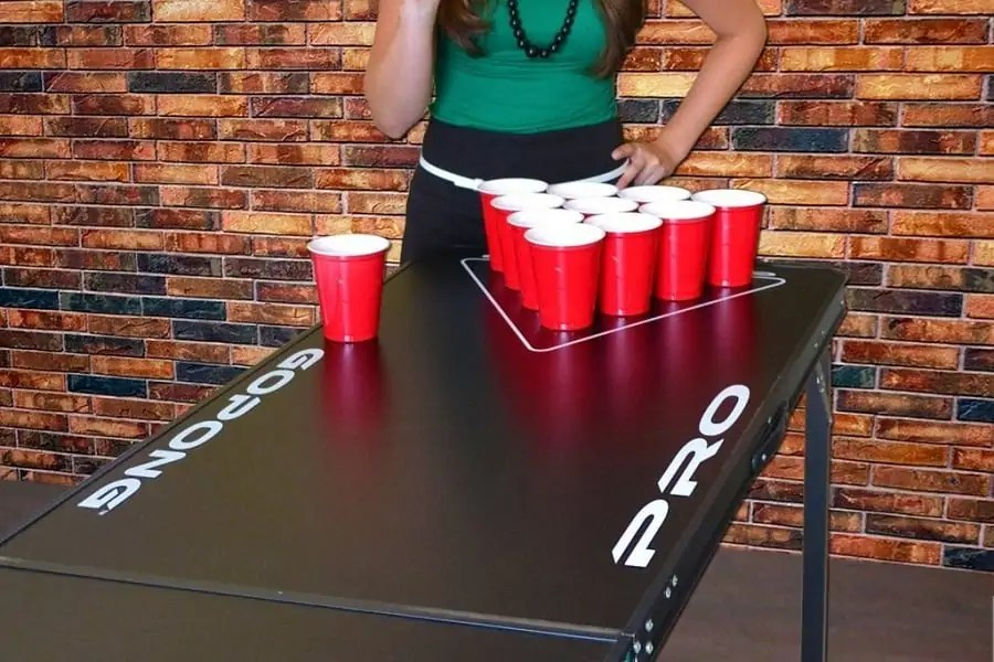 Table Sizes for playing Beer Pong