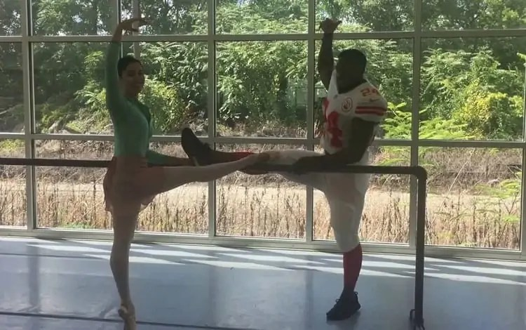 ballet training for famous nfl player