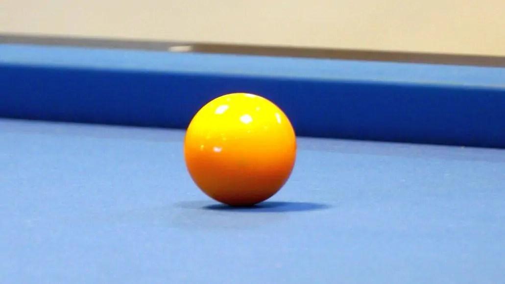 edge of billiards table
