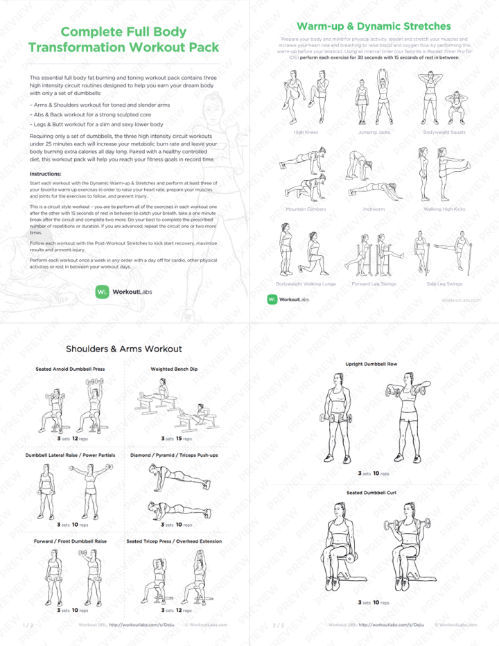 Full Dumbbell Workout Routine Pdf | freesub4 com