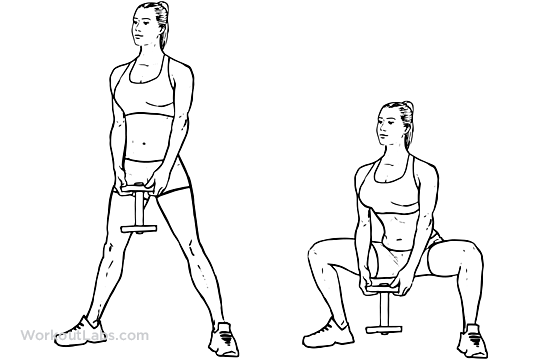 Pile Sumo Dumbbell Squat
