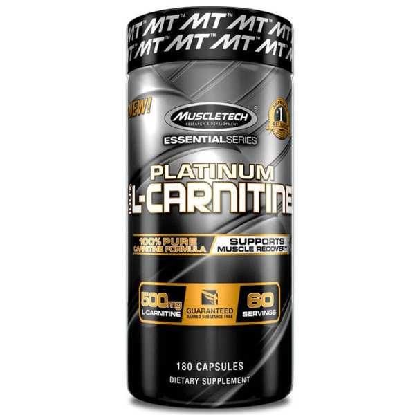 MUSCLETECH - Platinum 100% L-Carnitine Caps
