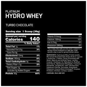 ON - Platinum Hydro Whey Turbo (3.5 lbs)