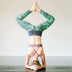 Bound Angle Headstand Pose thumbnail