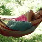 Sleeping in a hammock
