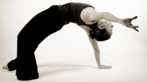 wild thing pose- camatkarasana