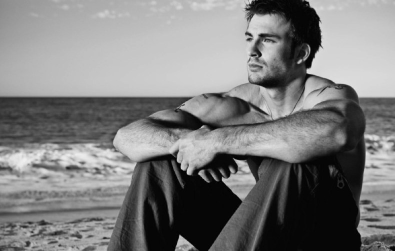 Chris Evans at the beach