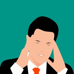 Illustration of man with stress
